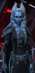 Mehsaa etwas älter in antiker Sith Rüstung
